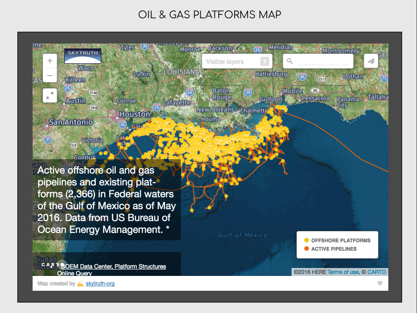 Oil Rigs In Gulf Of Mexico Map.Gulf Coast Oil Gas Platforms Map By Saltwater Recon Com